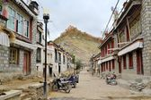Dzong Fort and the town of Gyantse in Tibet. — Stock Photo