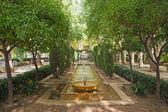 Fonte nos jardins do hort del-rei — Foto Stock