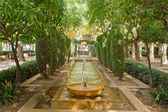 Fountain in the gardens of Hort del Rei — Stock Photo