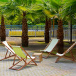 Deck chairs — Stock Photo