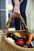Basket filled healthy food — Stok fotoğraf