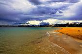 Playa de el sardinero. santander. españa. — Foto de Stock