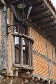 Wooden balcony. Calatañazor. Spain. — Foto de Stock
