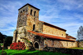 Romanesque church of Argomilla, Cantabria (Spain). — Stock Photo