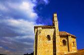 Romanesque church. San Pantaleon de Losa. Burgos. Spain. — Stock Photo