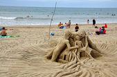 Sandskulpturen. hendaye. frankreich. — Stockfoto