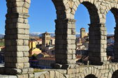 Aqueduct of Segovia. Spain. — Stock Photo