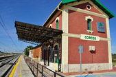 Railway station. Corocs. Valladolid. Spain. — Stock Photo