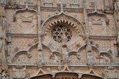 Rose window. San Pablo. Valladolid. Spain. — Stock Photo