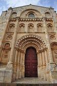 Romanesque facade. Cathedral of Zamora. Spain. — Stock Photo