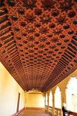Coffered ceiling. San Juan de los Reyes. Toledo. — Stock Photo