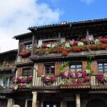Balconies with flowers. La Alberca. Spain. — Stock Photo #43951471