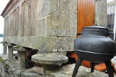 Pot and granary. Pontevedra. Spain. — Stock Photo