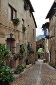 Street. Miranda del Castañar. Spain. — Stock Photo