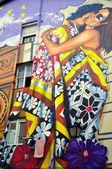 Mural painting. Vitoria-Gasteiz. Spain. — 图库照片