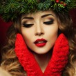 Christmas Woman — Stock fotografie