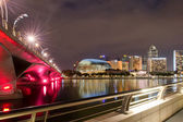 Night Quay in Singapore — Stock Photo
