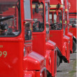 Stock Photo: Routemasters buses in row