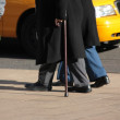 Senior with a cane — Stock Photo