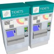 Ticket Machines — Stock Photo