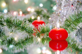 Christmas new year decoration with candles — Stockfoto