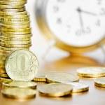Alarm clock and money — Stock Photo #49509653
