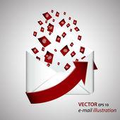 E-mail vector icon — Stock Vector