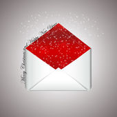 Christmas envelope with wishes — Stock Vector