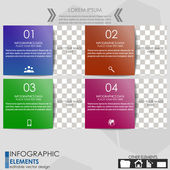 Infographic option banner - template — 图库矢量图片