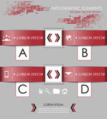 Infographic option banner - template — Stockvector