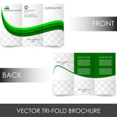 Tri-fold corporate business store brochure — Stock Vector