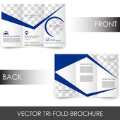 Tri-fold corporate business store brochure — Stok Vektör