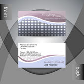 Abstract professional business card template or visiting card set — 图库矢量图片