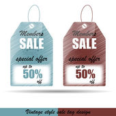 Vintage price or discount tags — Stock Vector