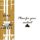 Tło z filiżanki kawy — Wektor stockowy