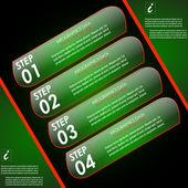 现代的信息图表选项横幅模板 — 图库矢量图片