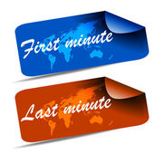 First minute and last minute web tag — Stok Vektör