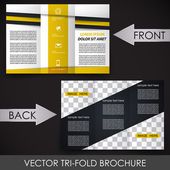 Tri fold corporate business store brochure — Stock Vector