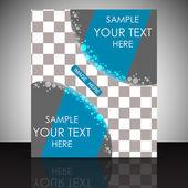 Conception de flyer ou couverture abstraite — Vecteur