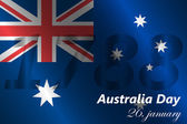 Australia day background — Stock Vector