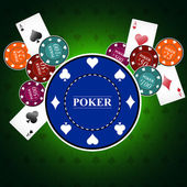 Poker background with game elements — Stock Vector