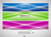 Web header with precise dimensions, set of vector banners — Stock Vector