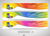 Web header with precise dimensions, set of vector banners — 图库矢量图片