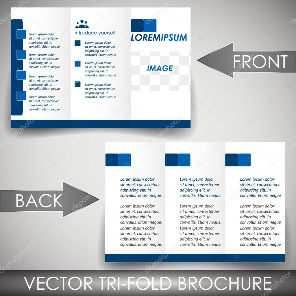 Business three fold flyer template corporate brochure or cover – Three Fold Flyer Template