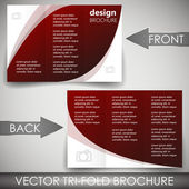 Business three fold flyer template, corporate brochure or cover design — Stockvektor