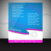 Business flyer or corporate banner, cover design - template — Stock Vector