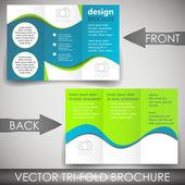 Tri fold corporate business store brochure — Vector de stock