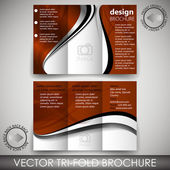 Tri-fold business store brochure template — Stock Vector