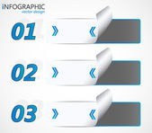 Modern infographic option banner — Stock Vector