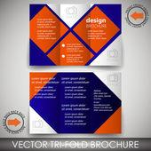 Tri-fold corporate business store brochure — Stock Vector